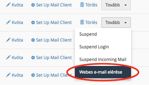 belépés webmailre cpanelből
