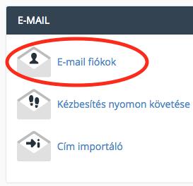 email fiókok szerkesztése