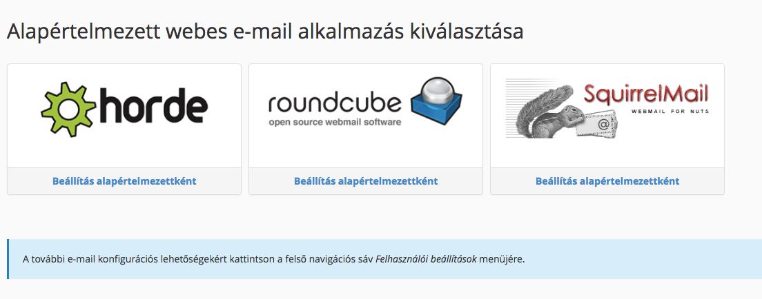 Webmail program választása