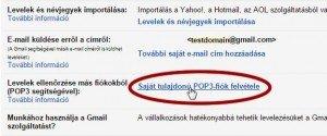 gmail pop3 beállítás - Saját tulajdonú POP3 fiók felvétele