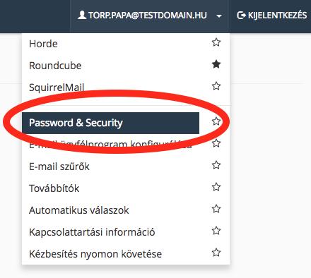 e-mail fiók jelszó módosítás webmailen