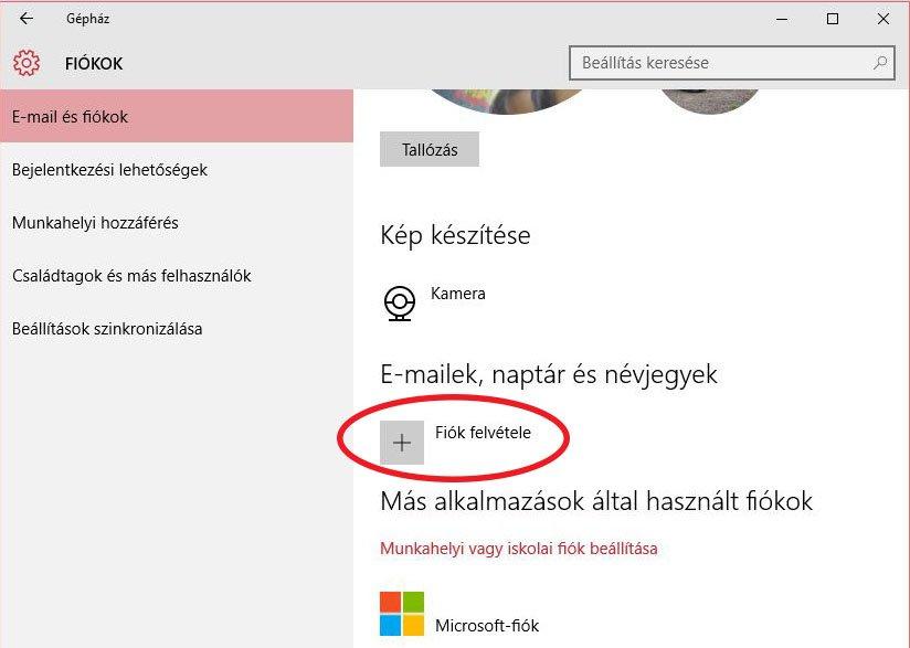 e-mail beállítás windows 10 - e-mail fiók hozzáadása