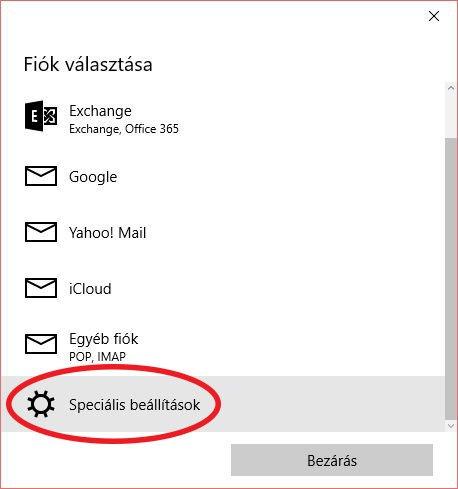 e-mail beállítás windows 10 - e-mail fiók hozzáadása, speciális