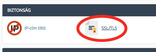 cpanel-SSL menüpont